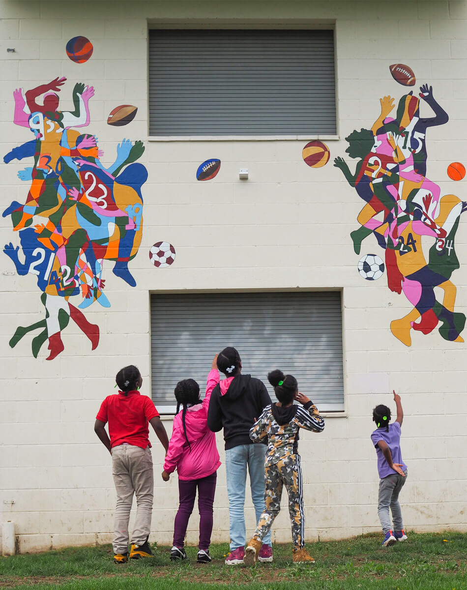 500th teaching artist residency mural