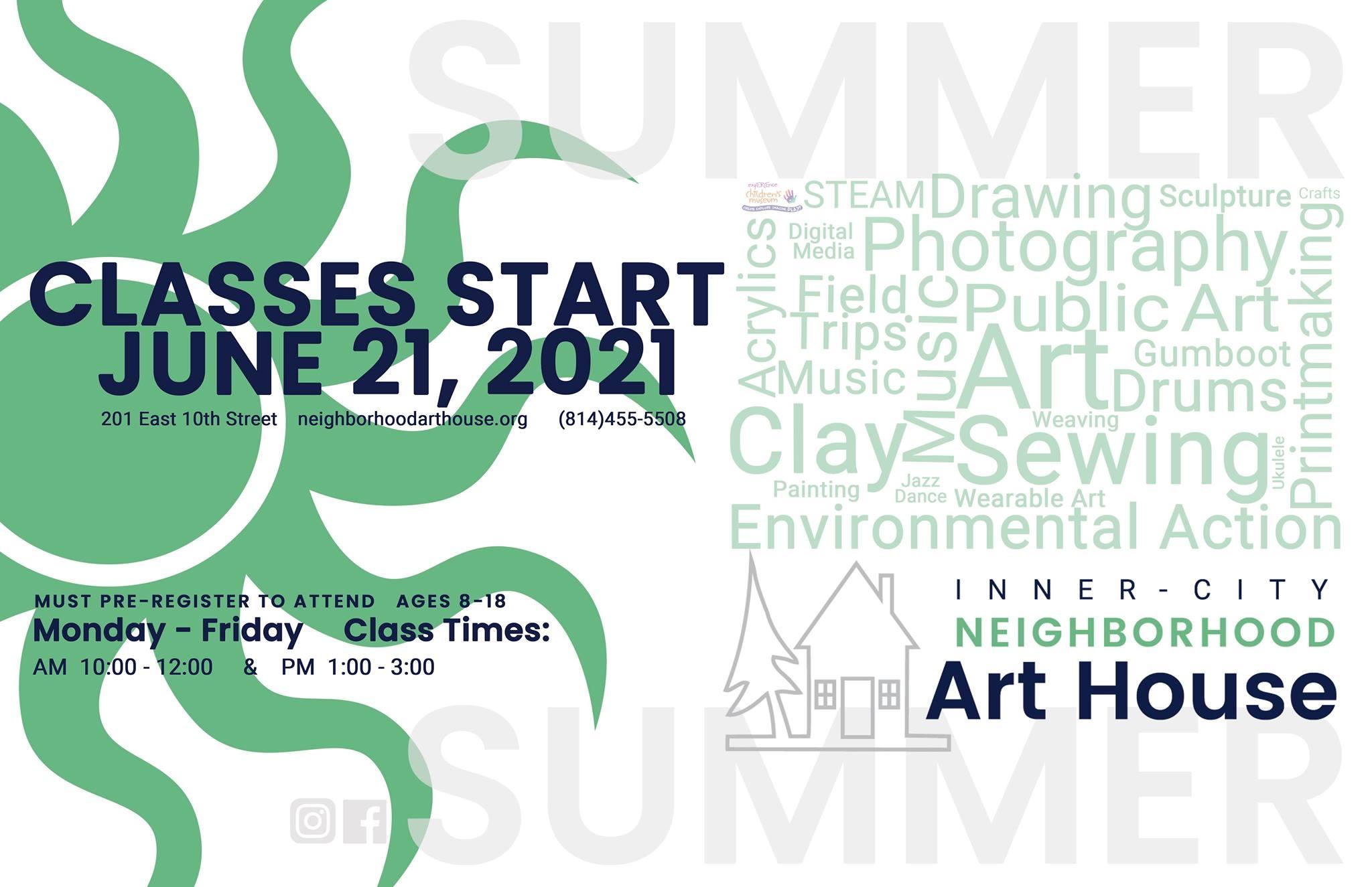 Registration for the Free Summer Day Program for Inner-City Children in Erie