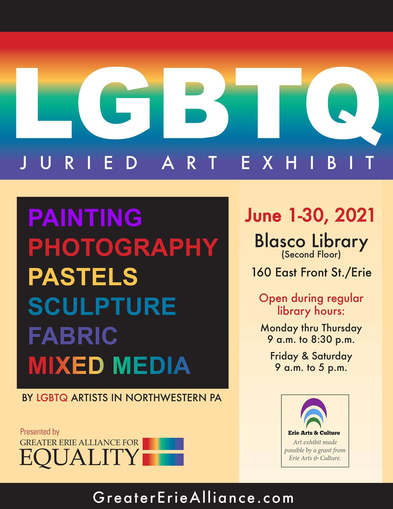 The 2021 LGBTQ Juried Art Exhibit