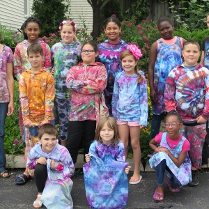 Ice dyed clothing items from a Wearable Art Class.