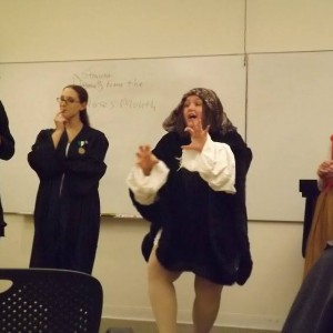 Teaching a commedia dell'arte theater class!