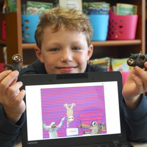 Virtual Pet Sloth Game and Clay Sculptures